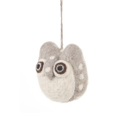 Handmade Needle Felt Owlet Hanging Owl Decoration