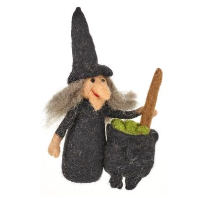 Handmade Wanda the Witch Biodegradable Halloween Decoration