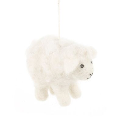 Hanging Minty the Lamb Felt Biodegradable Easter Decoration