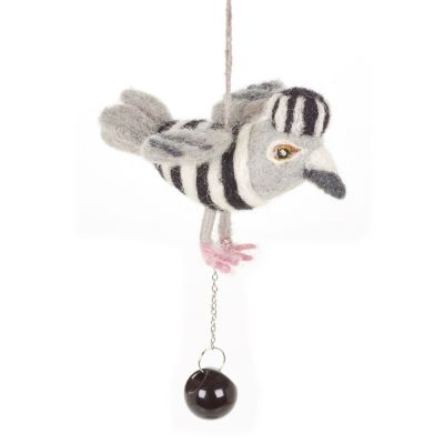Jail Bird Needle Felt Hanging Handmade Decoration