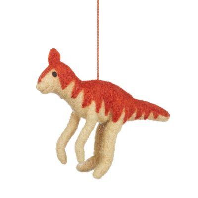 Handmade Needle Felt Ornitholestes Hanging Dinosaur Decoration