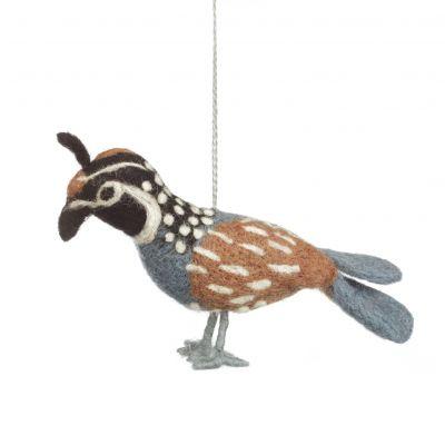 Handmade Partridge Hanging Fair Trade Bird Decoration