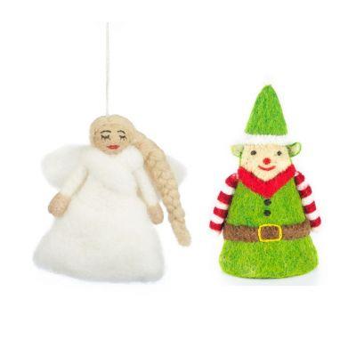 Handmade Felt Traditional  Tree Topper Christmas Decoration