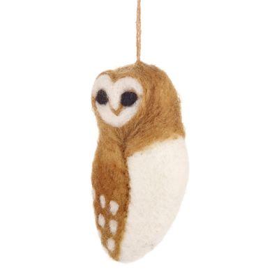 Tyto Alba Hanging Fair Trade Hanging Owl Decoration