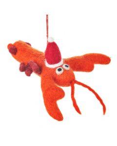 Handmade Felt Biodegradable Festive Lobster Tree Hanging Decoration
