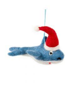 Handmade Felt Biodegradable Christmas Santa Jaws Hanging Decoration