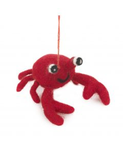 Handmade Felt Hanging Sebastian Crab Biodegradable Felt Decoration