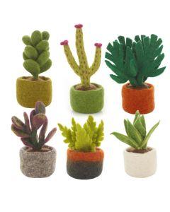 Handmade Felt Biodegradable Fake Miniature Plants Decoration