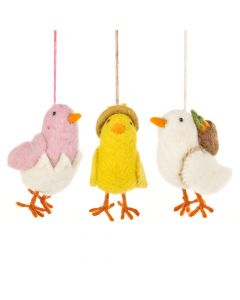 Handmade Needle Felt Chirpy Chicks Hanigng Easter Decoration